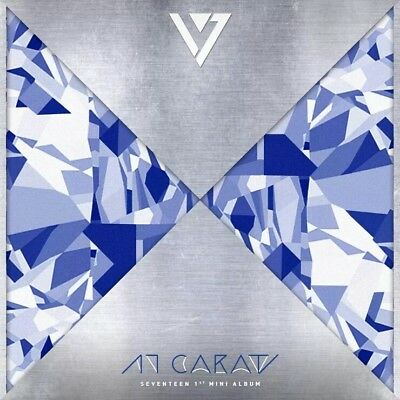 SEVENTEEN [17 CARAT] 1st Mini Album CD+POSTER+13p Photo Card K-POP+GIFT CARD