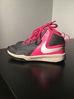 Girls Nike Team HustleD7 Hi-top Pink And Gray Size 12