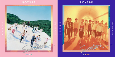 SEVENTEEN BOYS BE 2nd Mini Album CD+Book+Poster Map+Sticker+Card+Post Card+GIFT