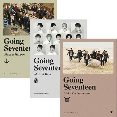 SEVENTEEN [GOING SEVENTEEN] 3rd Mini Album CD+Book+Card+Bookmark+Lyrics+GIFT+etc