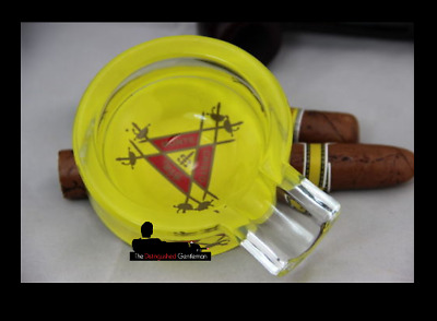 Montecristo Glass Cigar Cigarette Portable Ashtray
