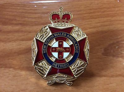 New South Wales Ambulance Service Retired Badge.