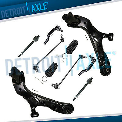 12pc Front Lower Control Arm Tierod Stabilizer Kit for 2006-2014 Toyota RAV4