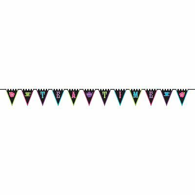 3m Mad Tea Party Fabric Pennant Bunting Banner