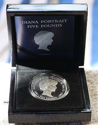 Princess Diana 2017 £5 -- 20th Anniversary 1oz Silver Proof Coin LIMITED MINTAGE