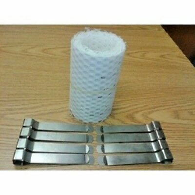 Candy floss machine mesh 218 x 15cm 8 clips, paragon candy floss, commercial,
