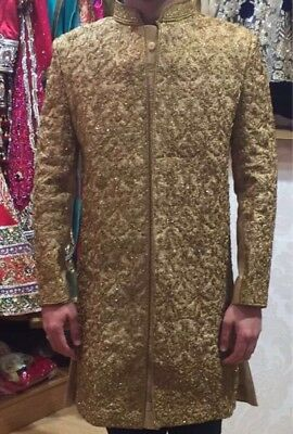 Men's Indian Sherwani  With Sz 40 With Shoes , Kulla , Trousers