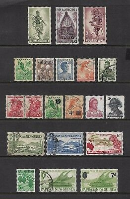 PAPUA NEW GUINEA - mixed collection No.21, pre-decimal, 1952-1962, used