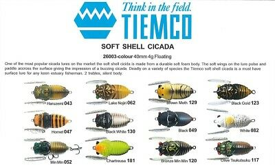 Tiemco Soft Shelled Cicada Lure 40mm Bass Surface Lure New