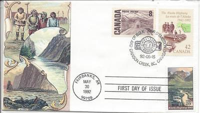 1992 # 2635 ALCAN Alaska highway S & T cachet joint issue US Canada