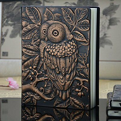 Diary Journal Notebook Vintage Book Owl Tree Leather Classic Cover Antique Blank