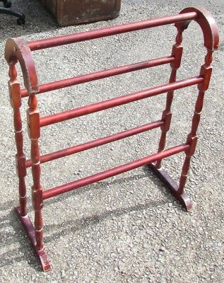Vintage wooden free standing towel rail • £10.90 - PicClick UK