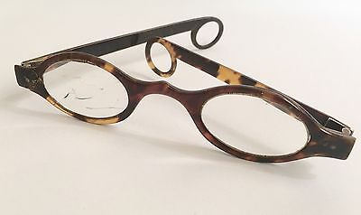 Antique Georgian Faux Tortoise Shell Spectacles Rare Temples Spectacle Case