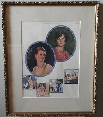 Ladys Home Journal Framed Fashion Print August 1928