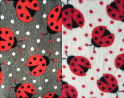 Polar Fleece Anti Pill Fabric Premium Quality Soft Material Ladybirds PPFL50