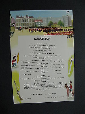 P&O SS Arcadia Loncheon Menu 1957 Trooping The Colour