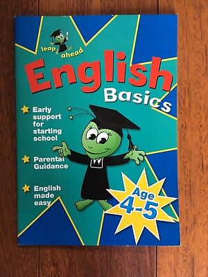 Leap Ahead English Basics Children's Learning Workbook Age 4-5 Letts