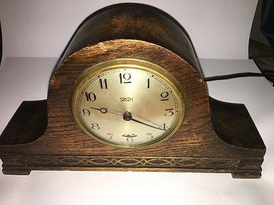 Antique Smith Electric Clock In Working Order From 1930s Vintage