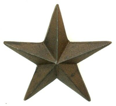 "Set/12 Cast Iron X Large 5"" DIY RUSTIC Farmhouse Star NAIL HEADS LOT Texas Brown"