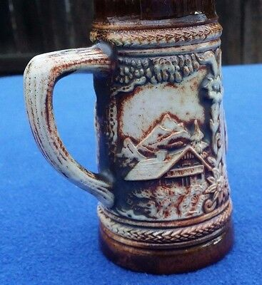 "Gerzit German Beer Stein Or Mug With Country Scenes 4-3/4"" Tall No Lid Gerzit"