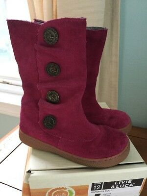 Livie And Luca Marchita Boots Size 12 Youth Girls Shoes Fuchsia