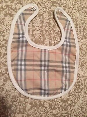 305 Burberry Children Nova Check Plaid BIB baby boy girl EUC 6m never used