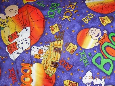 Peanuts Snoopy, Charlie Brown & Lucy Trick or BOO! Halloween Fabric BHY