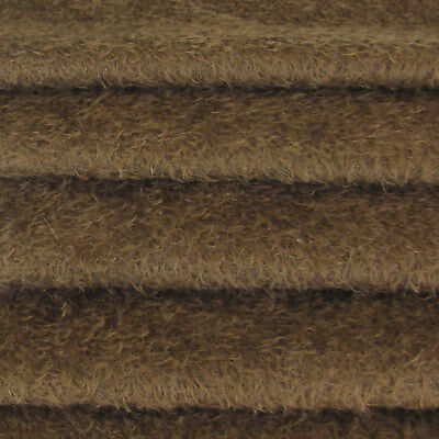 """1/3 yd 300S/CM Antq Brown INTERCAL 1/2"""" Ultra-Sparse Curly Matted Mohair Fabric"""