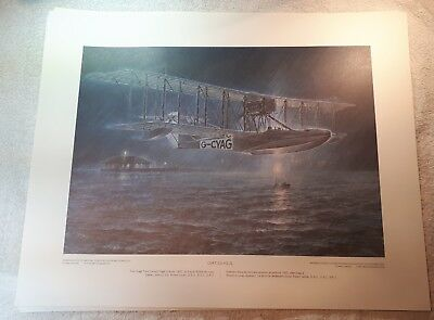 "Vintage Aviation Art R.W. Bradford Curtiss HS-2L print. 16""x20"""