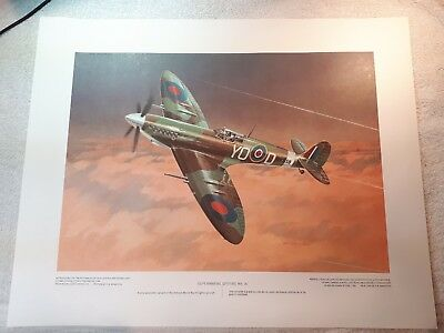 "Vintage Aviation Art R.W. Bradford Supermarine Spitfire Mk IX16""x20"""
