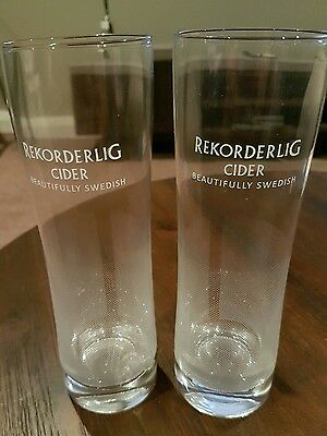 2 x TALL REKORDERLIG CIDER GLASSES