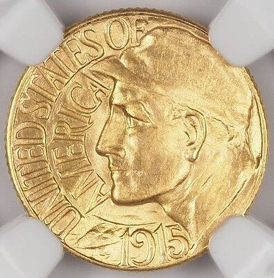 1915-S Pan Pacific $1 Gold Ngc Ms65