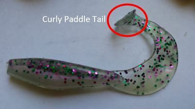 **NEW DESIGN** Soft Plastics Lures Curly Paddle Tail, Fresh & Saltwater Fishing