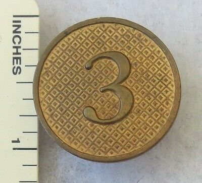 3rd REGIMENT - ORIGINAL Post WW1 Vintage Type II US ARMY ENLISTED COLLAR DISK