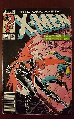 The Uncanny X-Men #201 - Key Issue !! 1st Nathan Summers (Baby Cable) - GD/VG