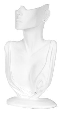 OpenBox KC Store Fixtures 49153 Jewelry Display, Bust with Partial Face for Neck