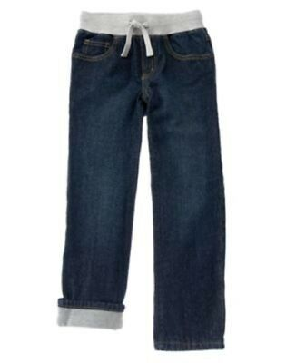 NWT Crazy 8 ACTIVE HOLIDAY PARTY Denim 5 Pocket Banded Waist Lined Pants Jeans
