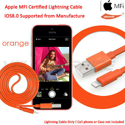 iPhone iPod Touch 5th Apple Certified Lightning Sync Data Cable w/Mic Headphone