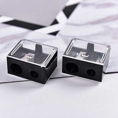Hot Precision Cosmetic Pencil 2 Holes Sharpener for Eyebrow Lip Liner EyelinerGT