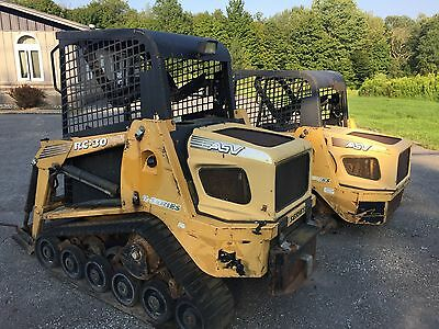 (2) Asv Rc 30 Skid Steer Loaders Caterpillar Diesel Engine WE SHIP!