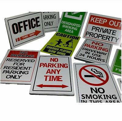 Outdoor weather proof signs aluminium
