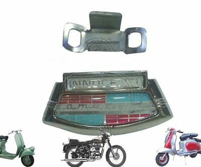 Lambretta Li Series 2 & 3 Chrome Horncast Badge & Clip Innocenti @de