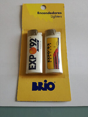 EXPO 92 SEVILLA Briquets X2 - Lighters - Ecendedores - New sealed.