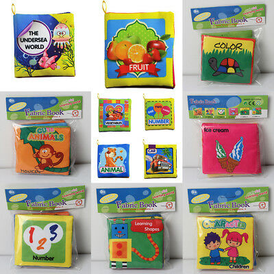 Kid Baby Cute Soft Intelligence Development Cloth Cognize Book Educational Toy
