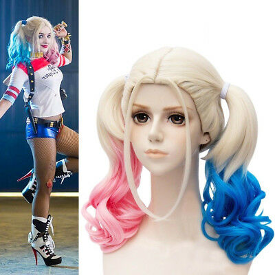 Masquerade Fancy Ball Party COSER Wig Pink Blue Gradient Hair Halloween Cosplay