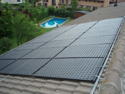 Solar absorber complete set for pools up to water surface 12m² - 56m² / Pool