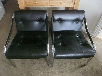 2 Pieff Alpha armchairs, dark brown leather, collection Exeter, or local deliv'y