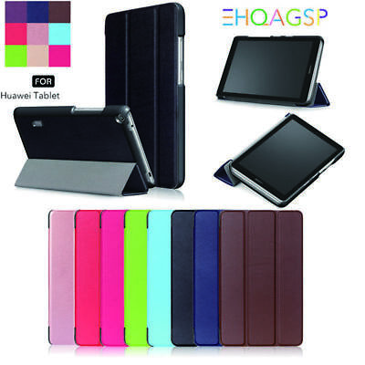 """2017 For Huawei MediaPad T3 7.0"""" 8"""" 10"""" Tablet Smart Leather Case Stand Cover UK"""