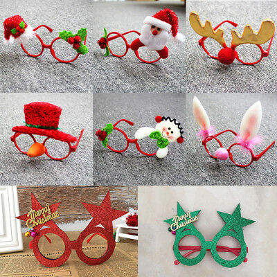 Kids Adult Christmas Sunglass Eyeglass Costume Eye Wear Xmas Party Decor Gift