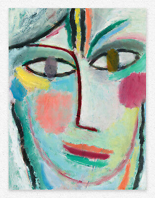 Alexej von Jawlensky  HEAD OF A WOMAN  50x38 cm  STAMPA TELA CANVAS PRINT TOILE